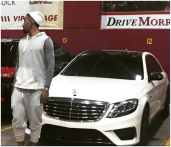 J.R. posted this picture recently on Instagram, from the Cavs players parking lot. It seems like he recently bought this 2015 S550 after he arrived to Cleveland. This is the top of the line Mercedes, and the White/Black contrast is definitely a great look.