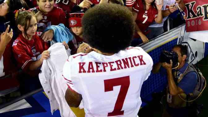 Colin Kaepernick jersey sales soar