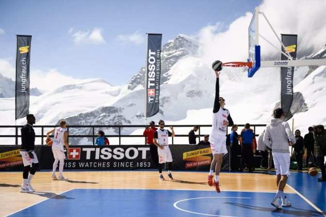 Tony Parker played a basketball game on a glacier…and it looks awesome!