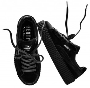 The Rihanna x Puma Creeper Velvet Black will release on December 8, 2016 for $150.