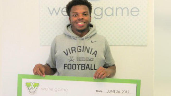U. Of Virginia Football Player Wins 100K Lottery