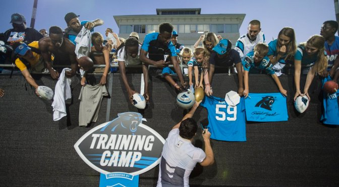 Images From Panthers Training Camp