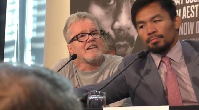 Freddie Roach To Manny Pacquiao: Either Be A Fighter Or A Senator