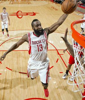 James Harden Dunk Rockets