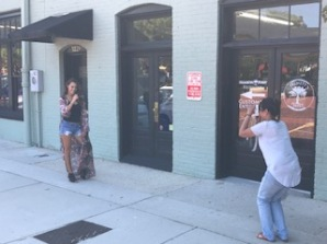 Our very own Thomas Stephens snapped a pic of a photographer snapping a pic of a stunning model.