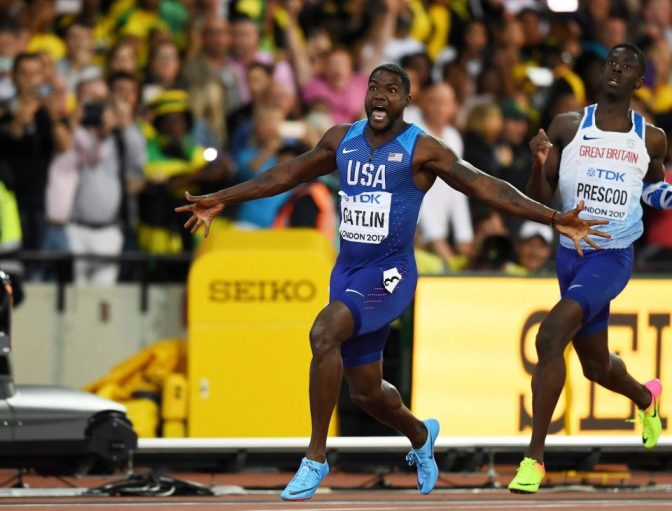 "Watch As Justin Gatlin Takes Down The ""World's Fastest Man"""