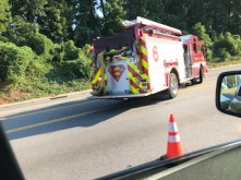 Superman is the true identity of Clark Kent. In this this case Supermen are what we call Columbia 's rescue team. Photo by Thomas Stephens