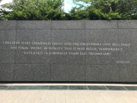 Alvin Glymph snapped this photo of a powerful quote by Dr. Martin Luther King Jr. in Washington DC.