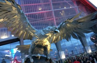 Keyonne Small also got a shot of this majestic sculpture outside Mercedes-Benz Stadium.