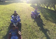 Keyonne Small snapped a shot of kids reaching for wheelers. Looks like they're having a ball!