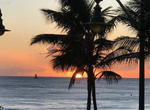 This breathtaking shot of the Haleiwa, Hawaii sunset was taken by Milton Abnathey.