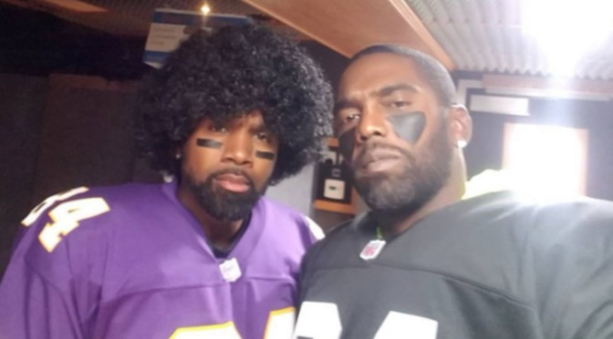 Charles Woodson & Randy Moss Dress Up As Each Other For Halloween