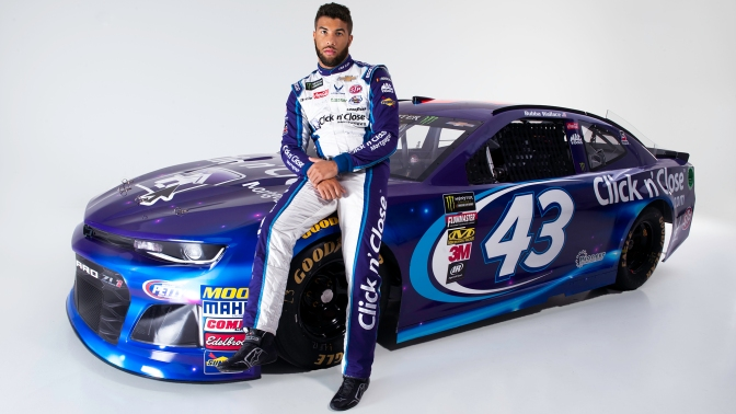 Check Out The New Face of NASCAR Bubba Wallace
