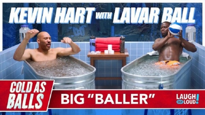 "Check Out Kevin Hart Interviewing Lavar Ball In His New Sports Series""Cold As Balls"""