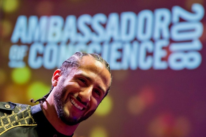 Colin Kaepernick Honored With Ambassador Of Concience Award By Amnesty International