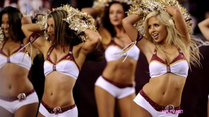 Redskins Cheerleaders Pose Topless