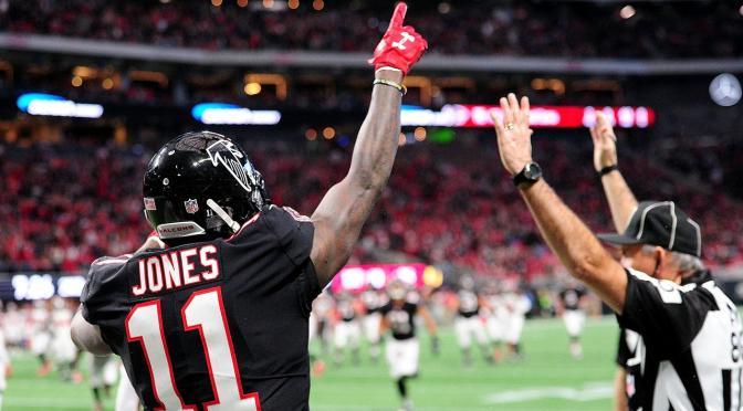 Falcons and Superstar Receiver Julio Jones talks heat up