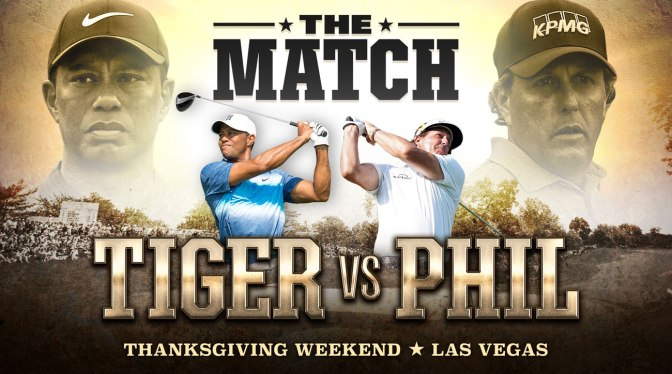 Tiger Woods, Phil Mickelson Face Off In $9M match-play PPV event  Nov 23