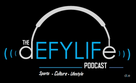 Defy Life Podcast w Tagline Large Rectangle