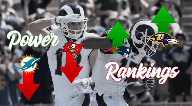 Power Rankings at the quarter-mark of the 2018 NFL season: