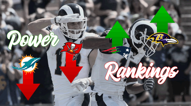 Power Rankings at the quarter-mark of the 2018 NFL season: