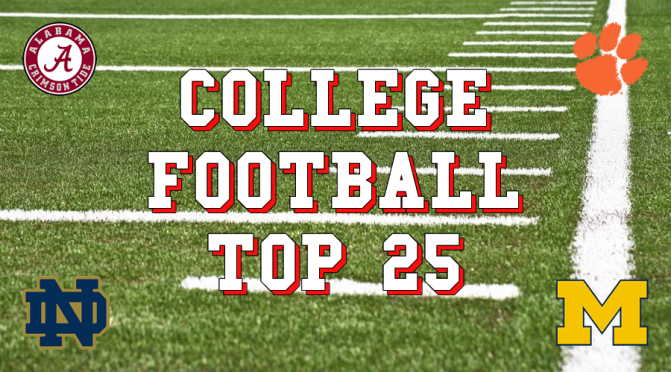 College Football's Top 25 after ten weeks: