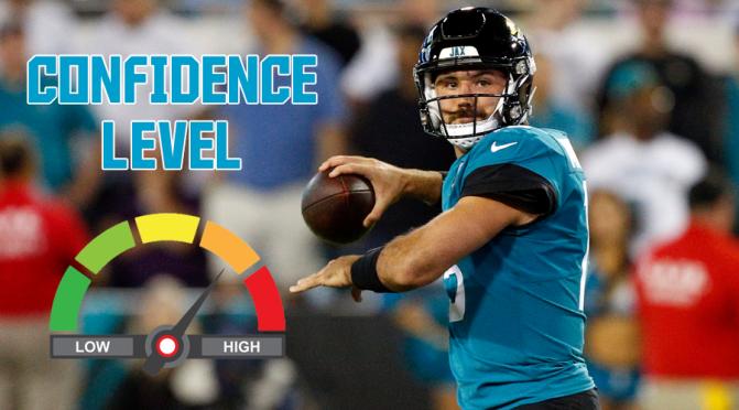 Confidence level for new starting quarterbacks: