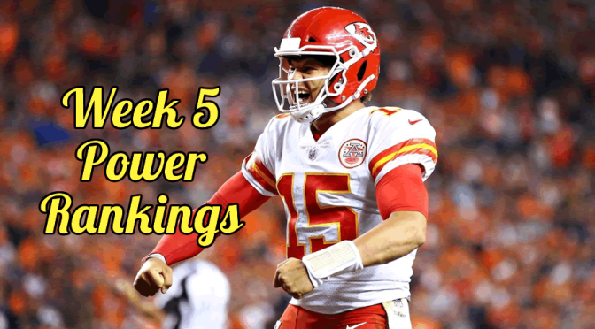 NFL Power Rankings after the first quarter of the 2019 season: