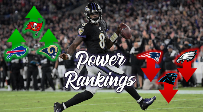 NFL Power Rankings heading into the fourth quarter of 2019:
