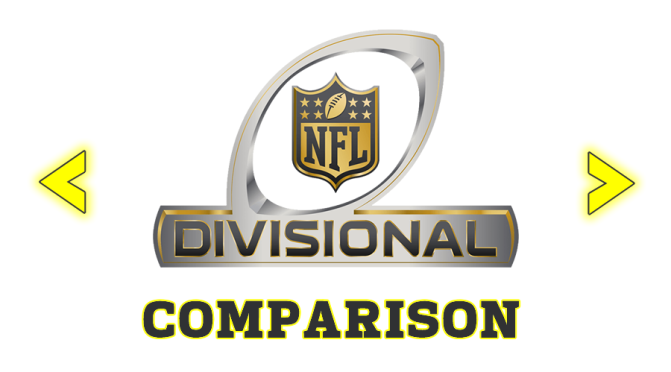 Comparing Divisional Round opponents at every position: