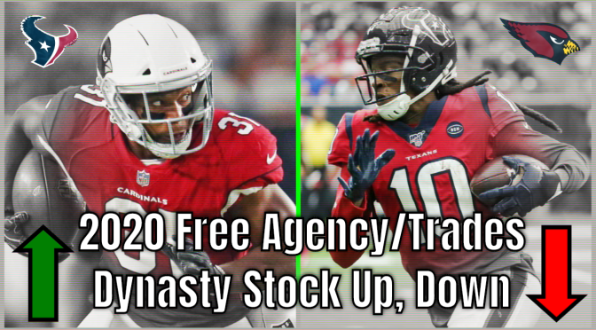 Dynasty Stock Market Watch | 2020 NFL Free Agency | 2020 NFL Trades