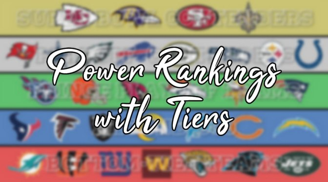 Ranking all 32 NFL teams in tiers pre-2020 season: