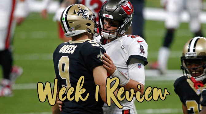 Three statements for each week one NFL game: